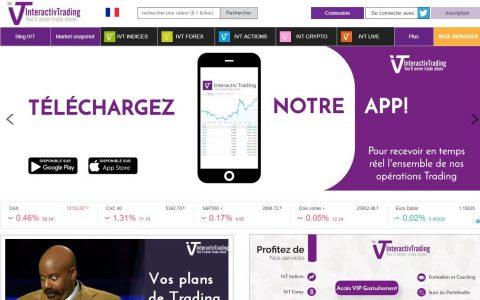 Interactivtrading : Site et application mobile sur le trading