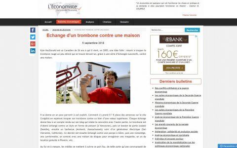 Site sur l'économie